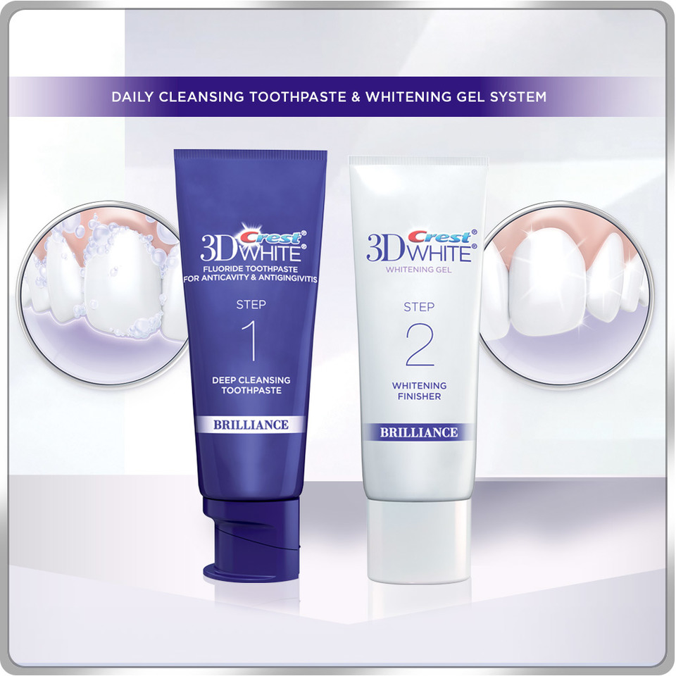 crest 3d white brilliance whitening toothpaste