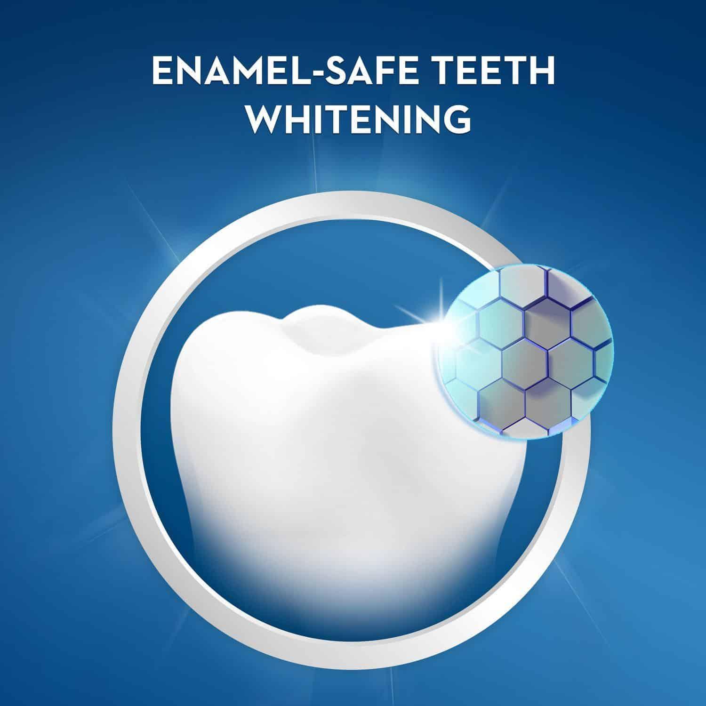 enamel safe whitening with crest gentle routine